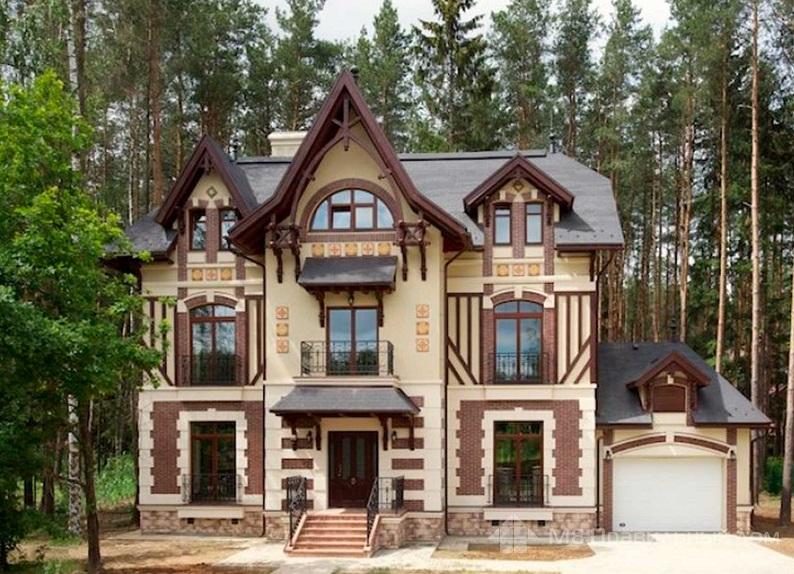 Отделка фасада дома - пример