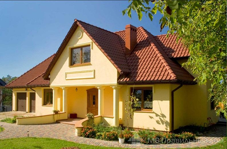 Коричневая крыша на доме - какой цвет фасада выбрать
